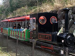 園内の2駅をつなぐ豆汽車